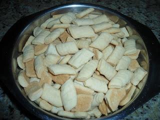 Biscoitos caseiros de nata