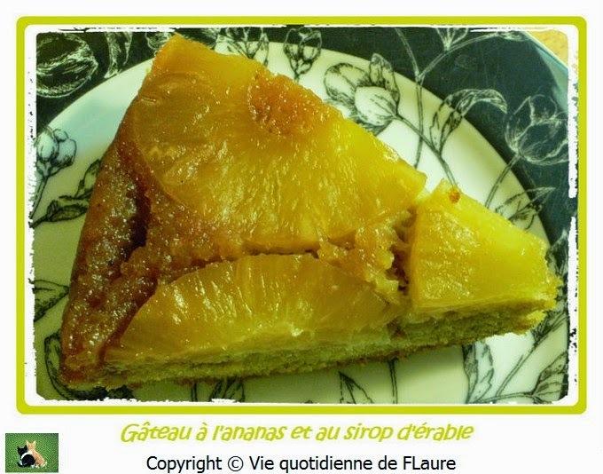 Gâteau à l'ananas et au sirop d'érable