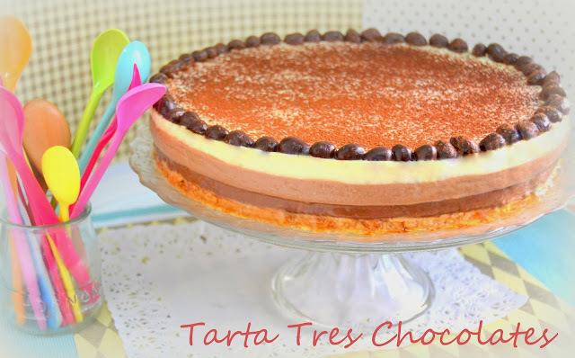 Tarta Tres Chocolates (Con y sin Thermomix)