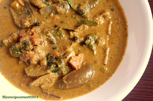 Brinjal Pachadi( Brinjal side dish for Biryani)