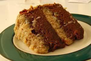 bolo de chocolate recheado com coco massa pronta