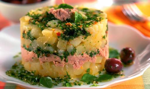 Salada de Batata com Atum ao Pesto