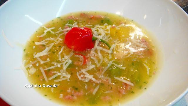 Sopa de Mandioca, Cabotiã e Calabresa