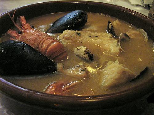 bouillabaisse: sopa de pescado