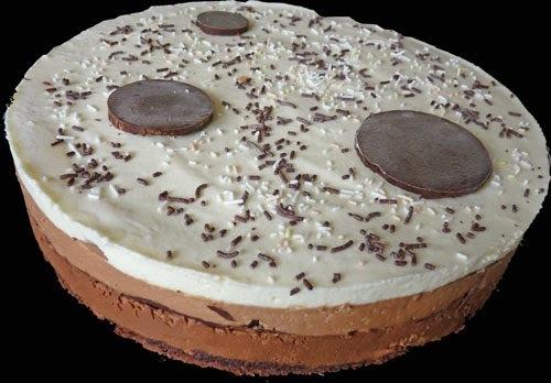 Entremets 3 chocolats avec feuilles croustillantes au chocolat (idée d'entremets pour les fêtes de pâques)
