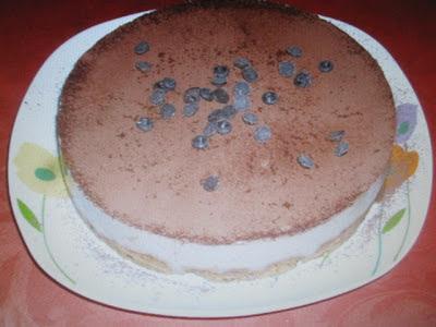 Cheesecake com tofu e café