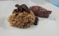 que carne combina com risoto de funghi