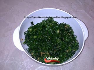 Couve das Folhas do Brócolis