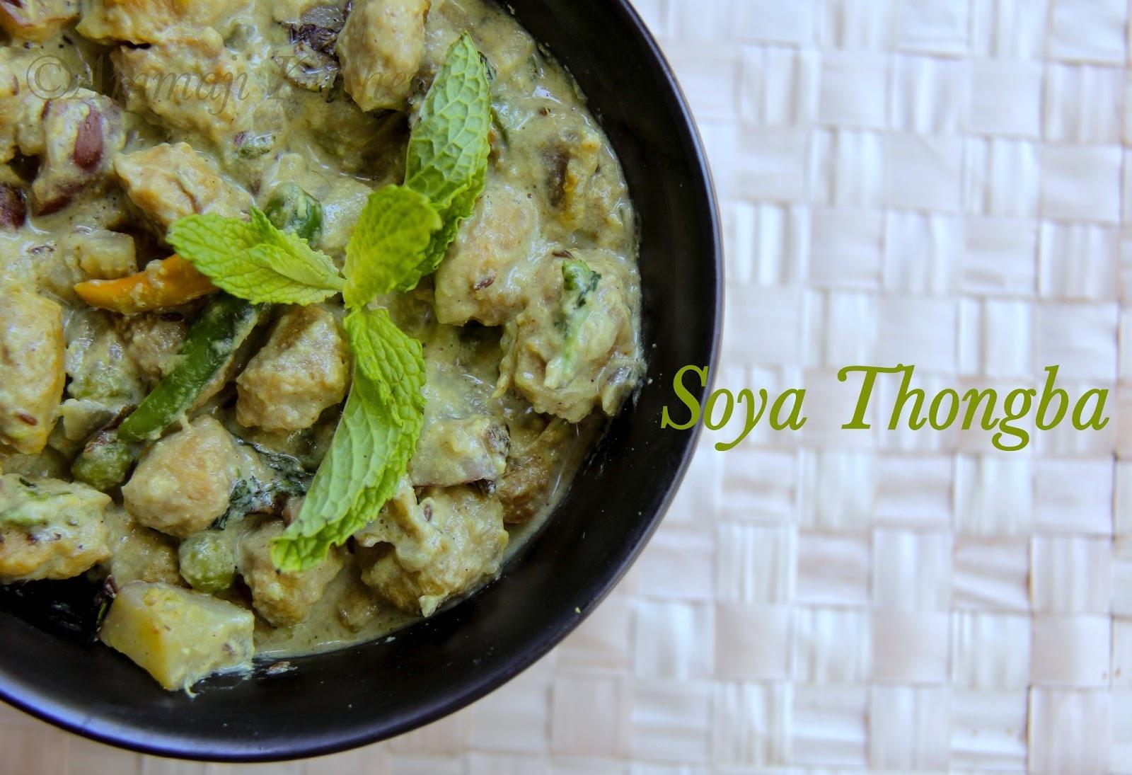 Soya Thongba - A Manipuri Dish