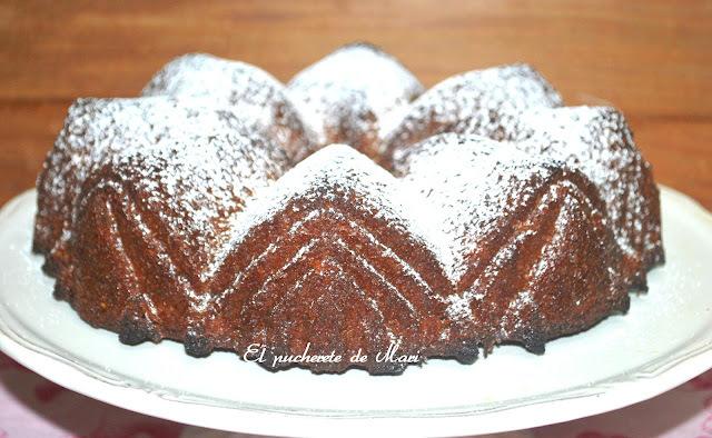BUNDT CAKE  INTEGRAL DE PERA Y MANZANA