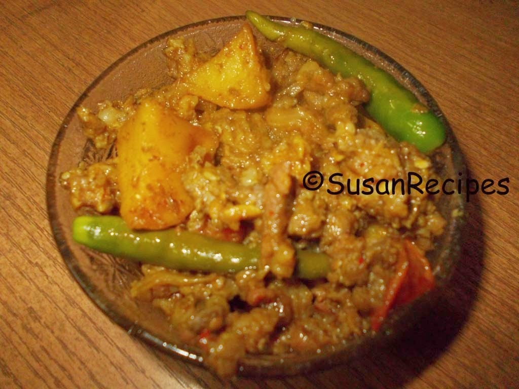 Potato Mutton Kheema