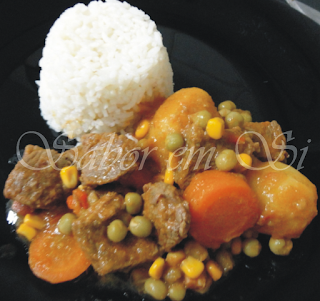 Carne Estufada com Batatas e Ervilha do Blog  RAPA TACHOS