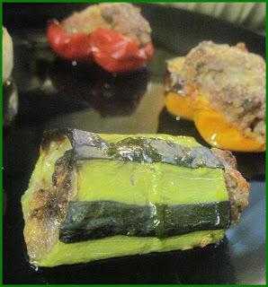 Légumes farcis (courgettes, navets, oignons, poivrons)