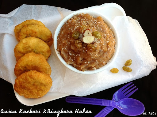 Onion Kachori & Singhora Sheera