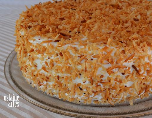 de recheio de bolo com 2 recheio cocada cremosa e doce de leite