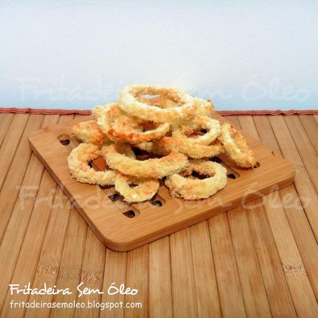 Onion Rings na AirFryer (Anéis de Cebola)