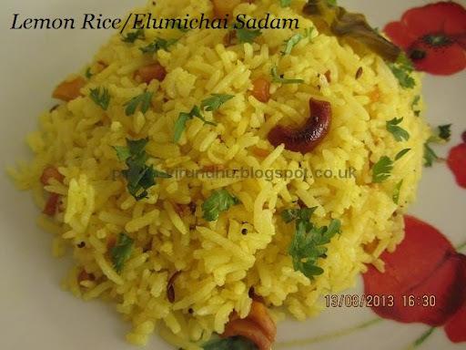 Lemon Rice/Elumichai Sadham –South Indian Special