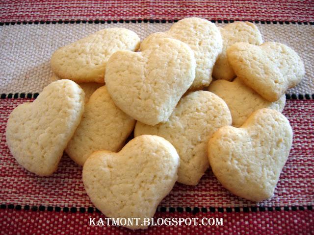 Biscoitos amanteigados de creme de leite - Biscuits au beurre et à la crème