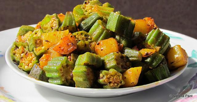 Pahari Bhindi (Bhindi Made in Kumauni Style)