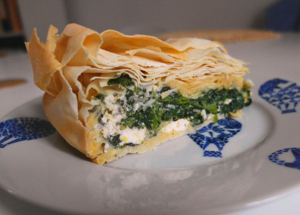 Torta pasqualina: veľkonočný špenátový koláč s fetou