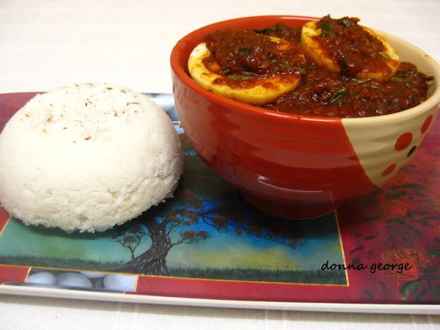 Puttum Motta Roastum/Steamed Rice Cakes and Egg Roast