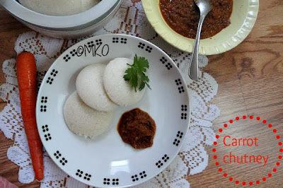 Carrot chutney/Easy chutney recipes