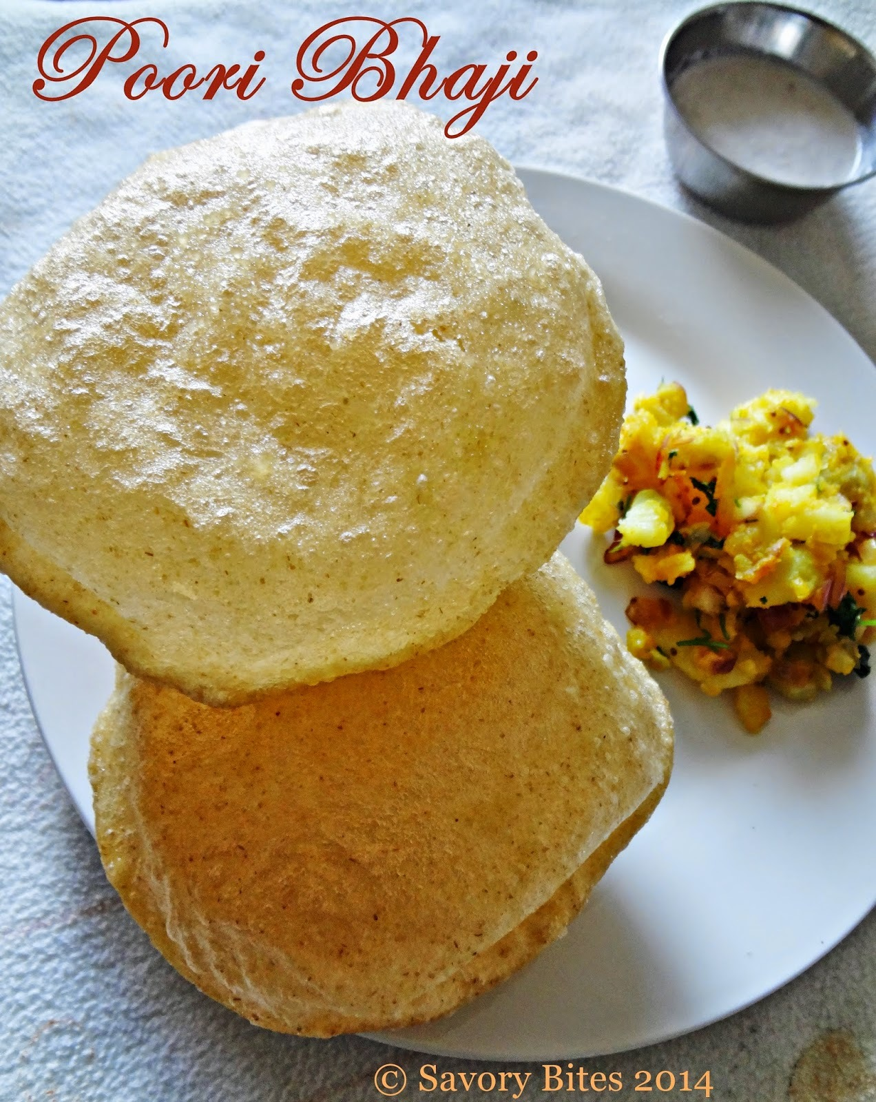 Poori ( How to make Fluffy, Puffed Poori)