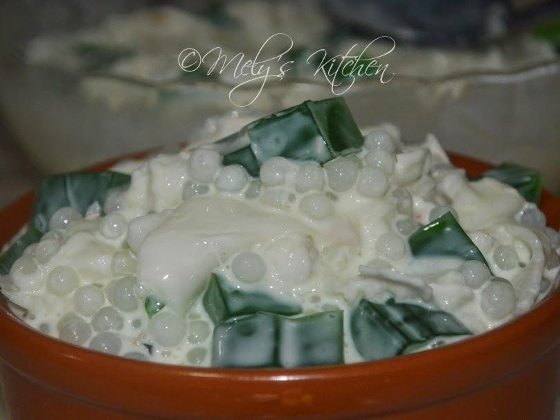Buko Pandan Salad with Tapioca Pearls