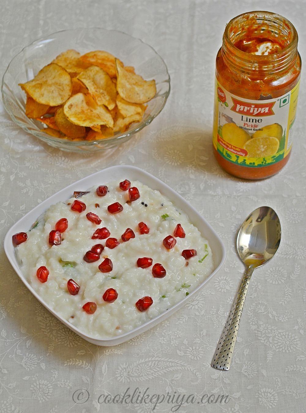 Thayir Sadam Recipe | Curd Rice