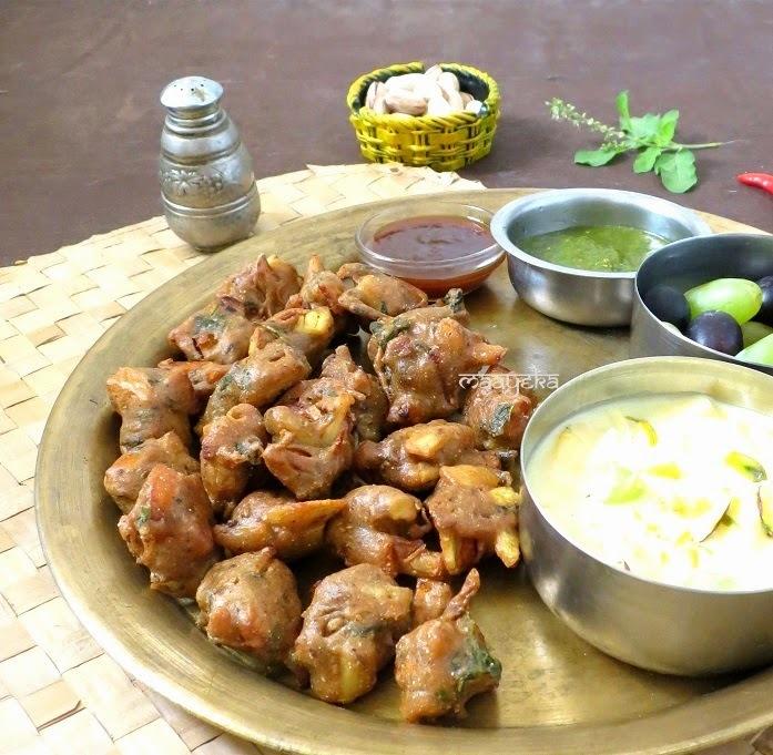 Kuttu Ki Pakodi - Buckwheat flour Fritters