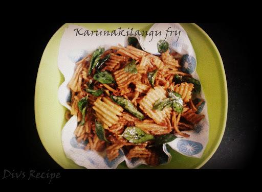 Crispy  Karunai Kilangu / Elephant Yam / Senai Fry