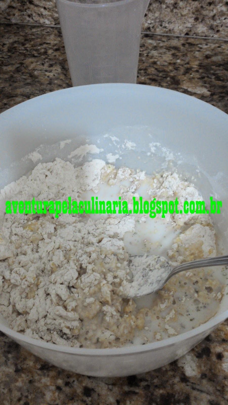 Pão rápido com fermento químico