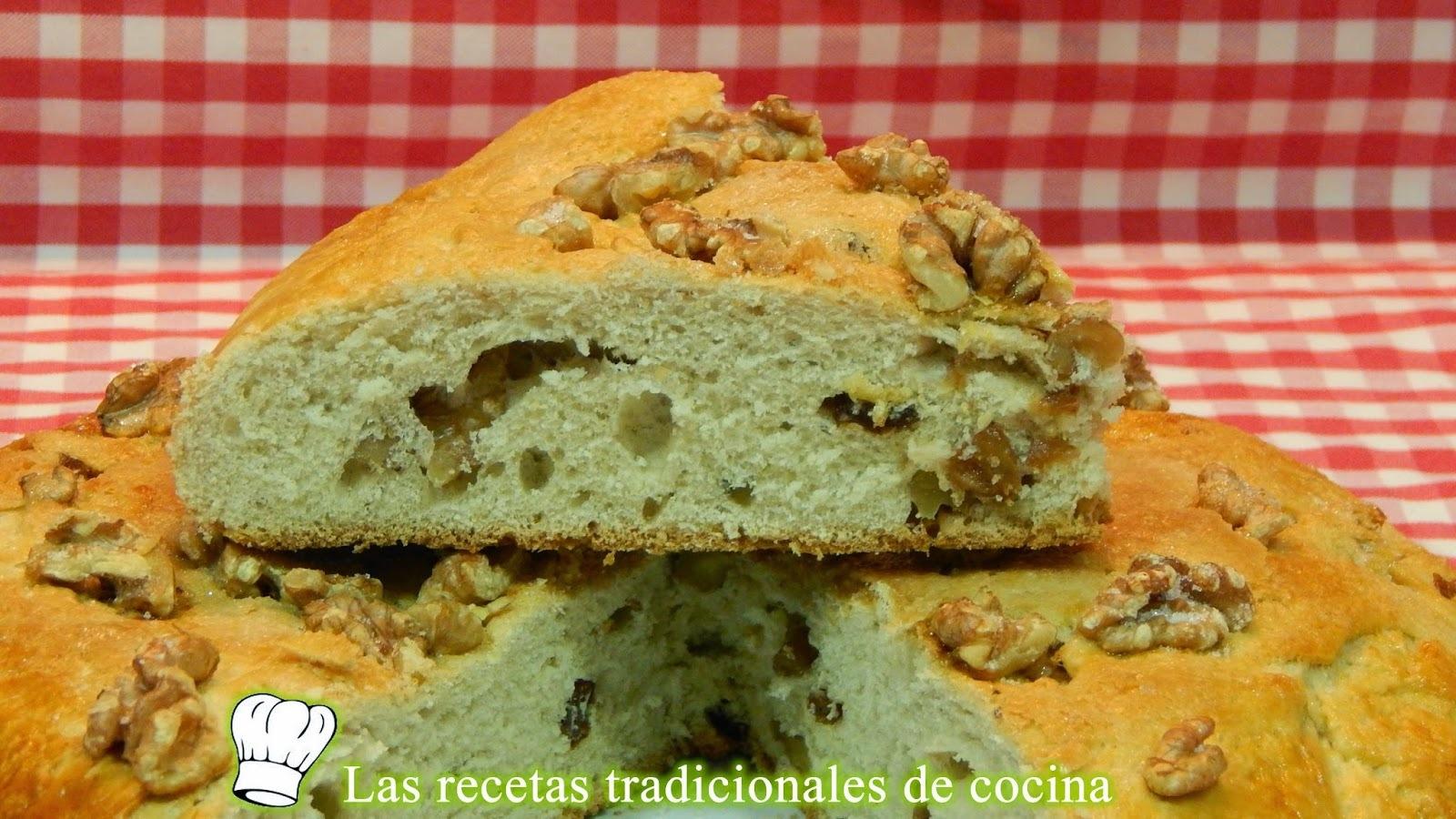 Receta de torta de nueces y pasas o pan dulce