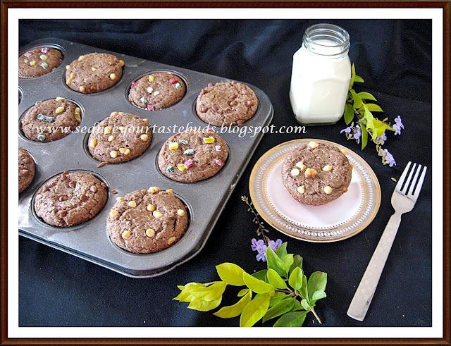 Ragi Cupcakes | Fingermillet Cupcakes
