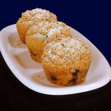 Sugar-Crusted Blueberry Muffins