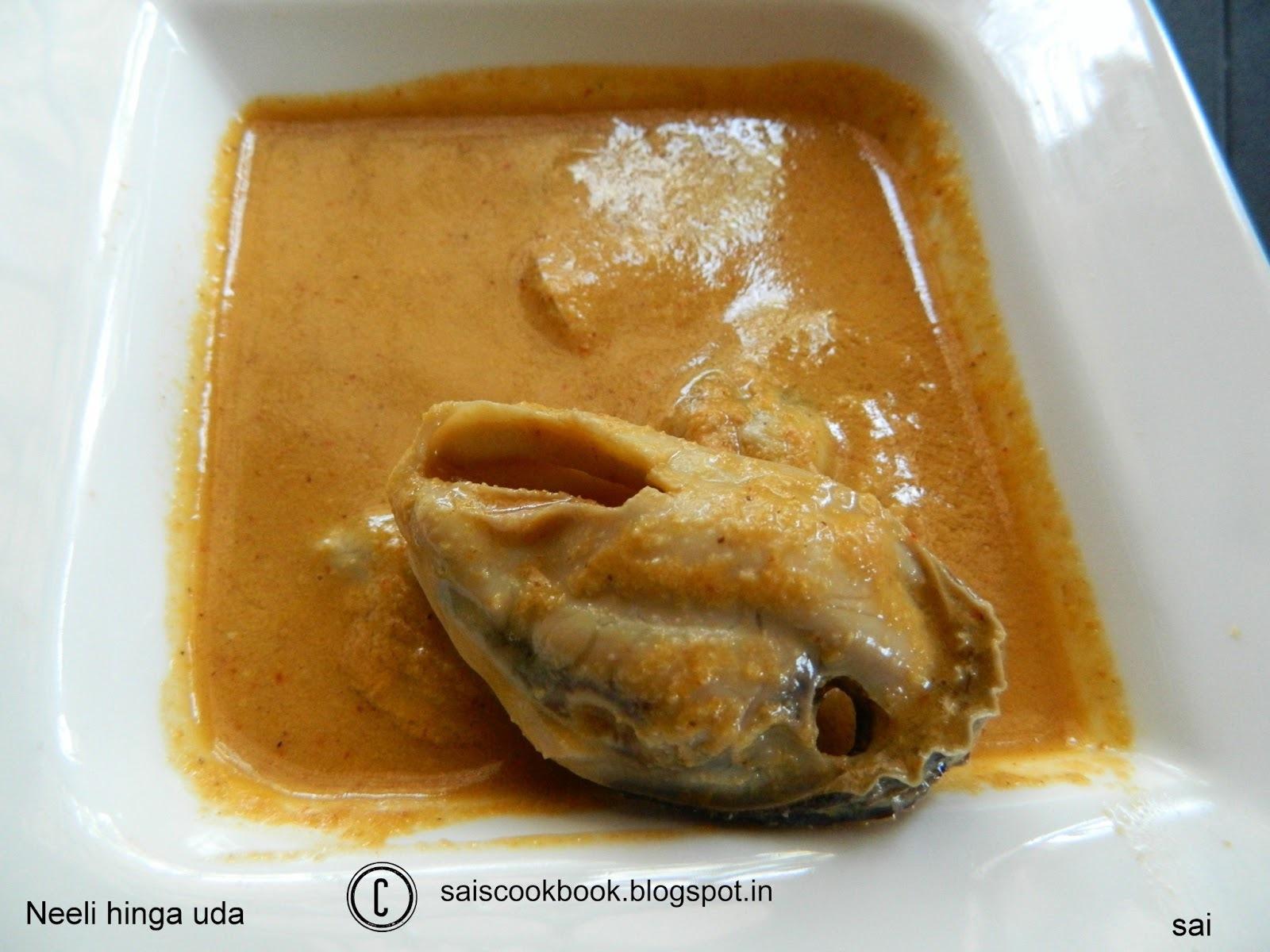 Neeli hinga uda(Mussels in asafoetida sauce)
