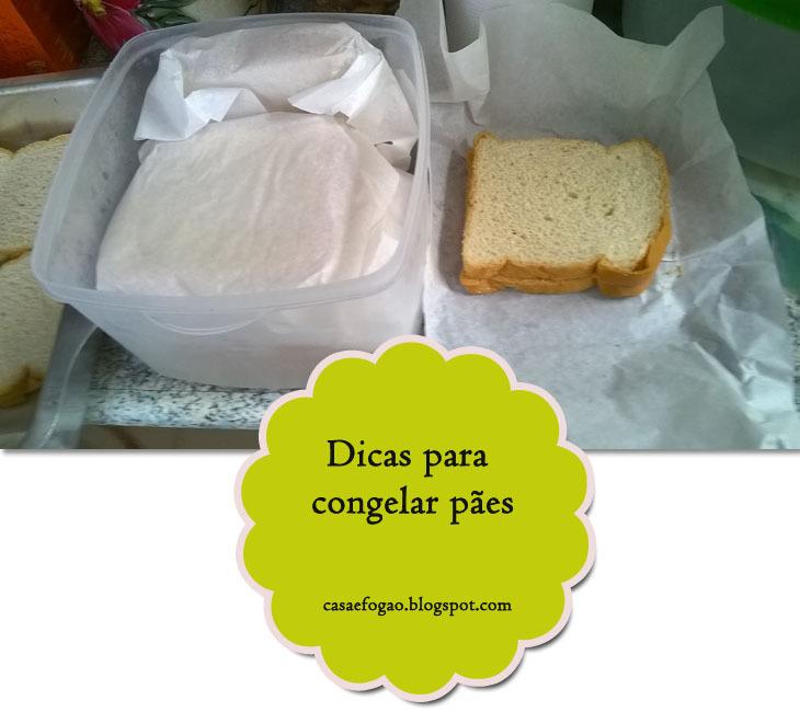 Como congelar pães