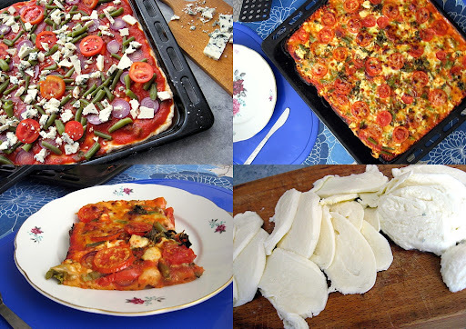 homemade pizza & great and tasty dish
