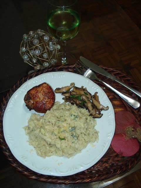 risoto de filé com molho shoyo