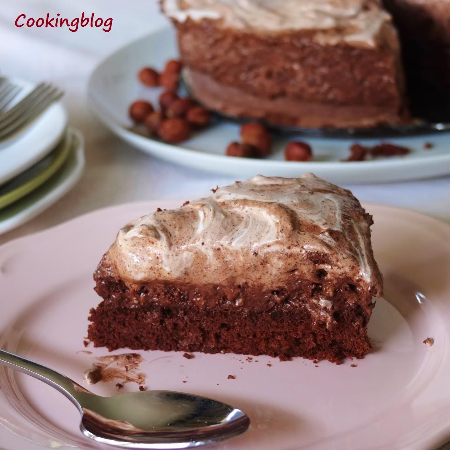 Bolo gelado de chocolate e avelãs | Chocolate Hazelnut Ice Cream Cake