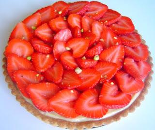 Tarta de Fresas con Almendras