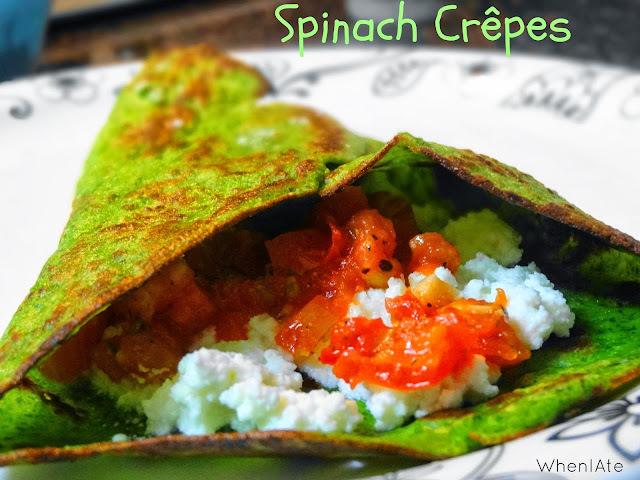 Spinach Crêpes