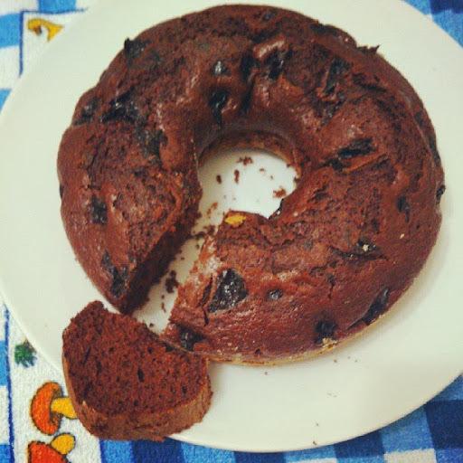 de bolo de chocolate com farinha integral e acucar mascavo