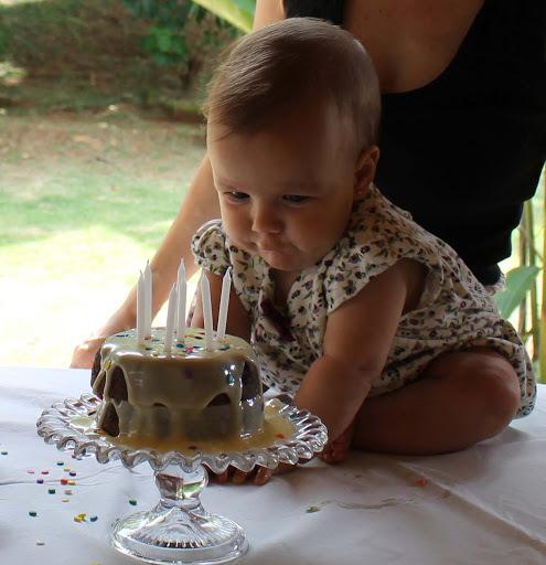 Aniversário da Clarice de 7 meses e Um Bolo Muito Fofo