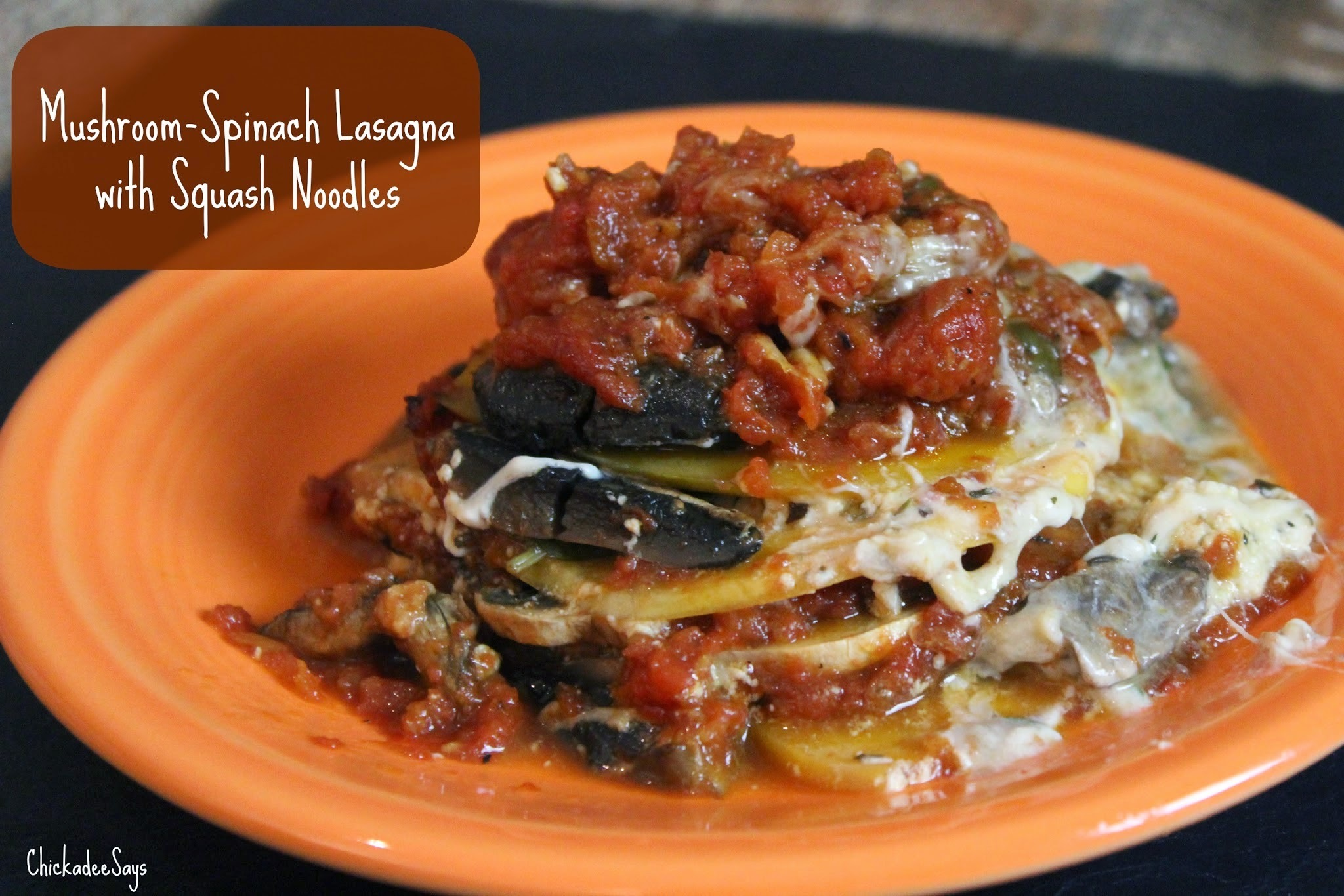 Meatless Monday: Mushroom-Spinach Lasagna with Squash Noodles
