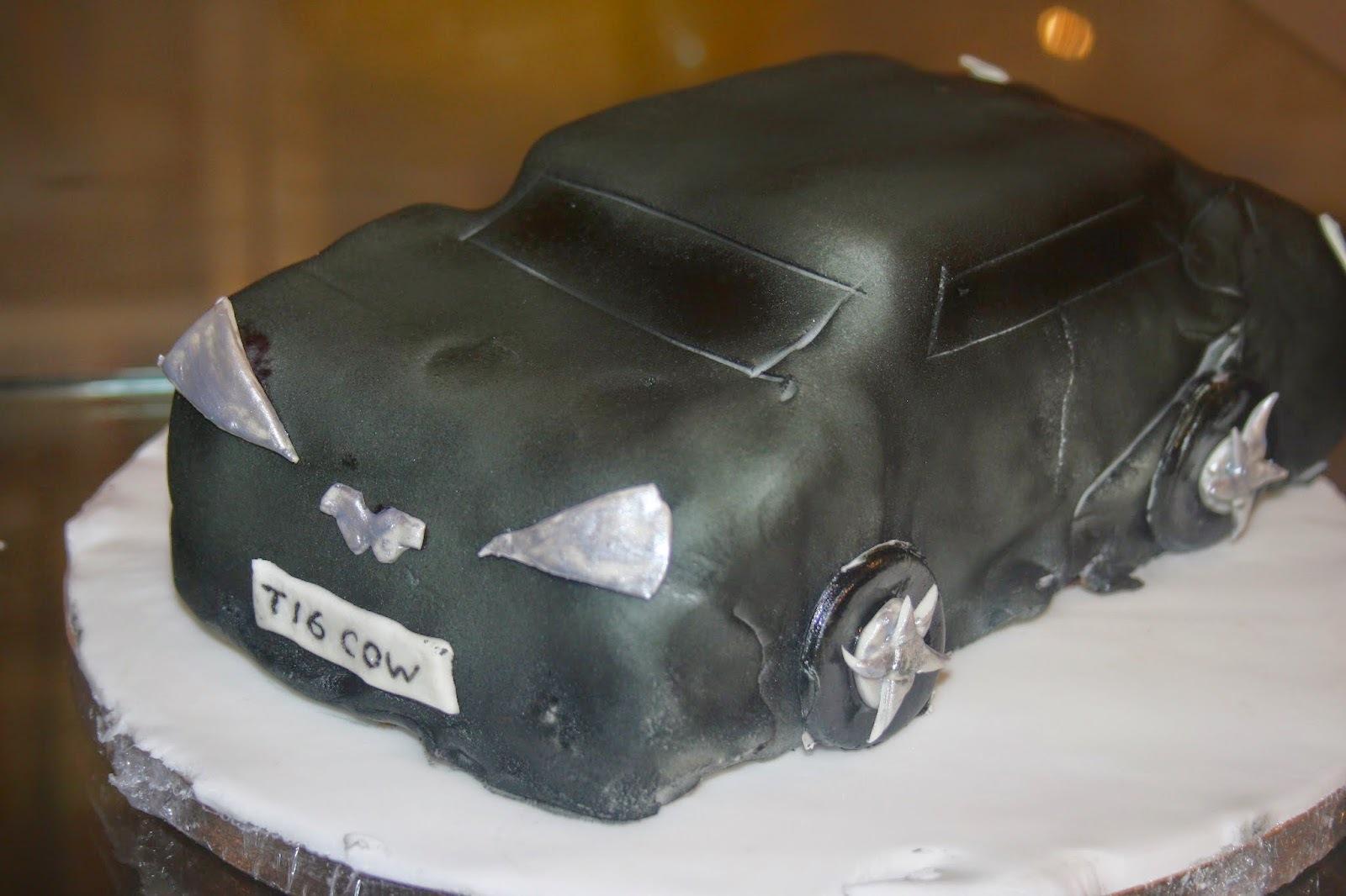Aston Martin supercar birthday cake