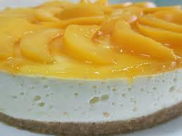 Torta Gelada de Pêssegos