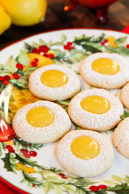 Meyer Lemon Curd Thumbprints
