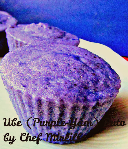 Ube Puto (Purple Yam Steamed Muffins)