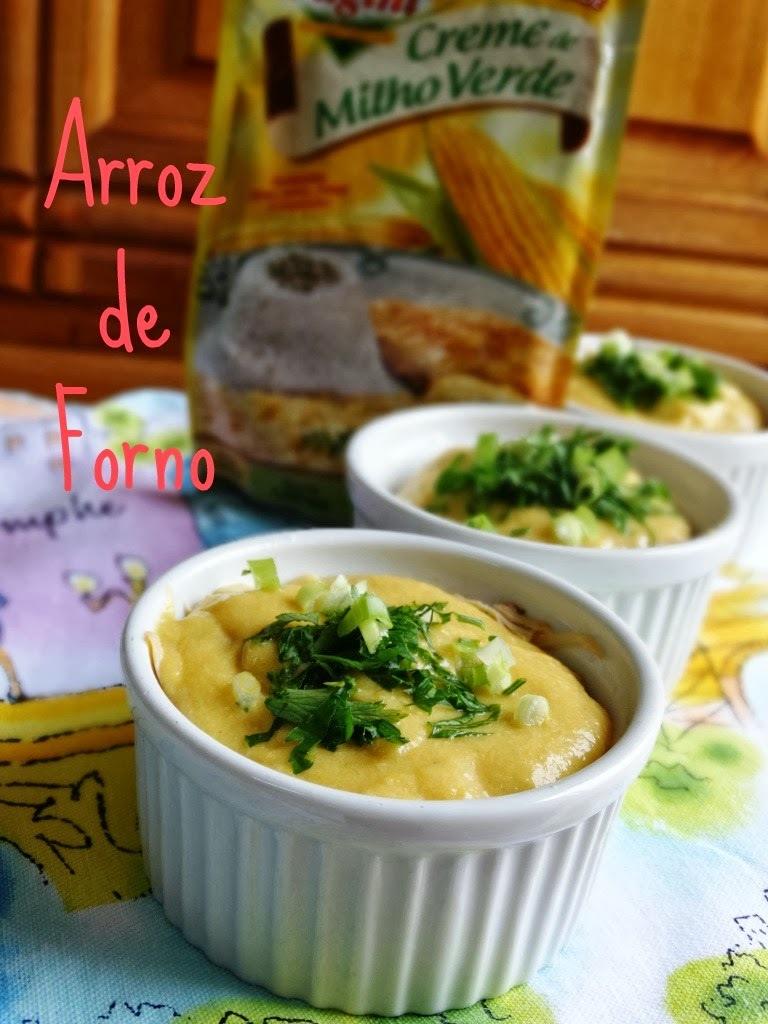 Arroz de Forno com Creme de Milho Verde Fugini